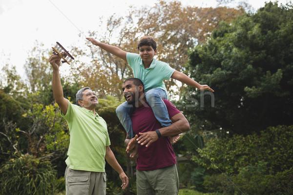 Szczęśliwy parku widoku Zdjęcia stock © wavebreak_media