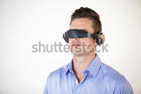 Teenage girl using virtual reality glasses Stock photo © wavebreak_media