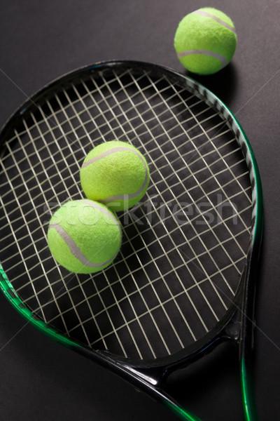 Görmek floresan sarı tenis Stok fotoğraf © wavebreak_media