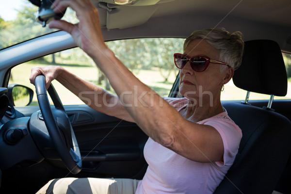 Araba hızölçer kadın yaşlı iç Stok fotoğraf © wavebreak_media