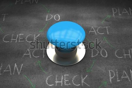 American football leaning on headgear Stock photo © wavebreak_media