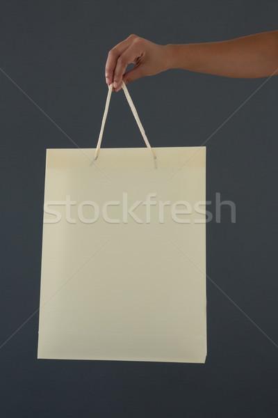 手 女性 顧客 ショッピングバッグ グレー ストックフォト © wavebreak_media