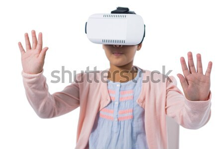 Imprenditrice virtuale realtà auricolare bianco Foto d'archivio © wavebreak_media