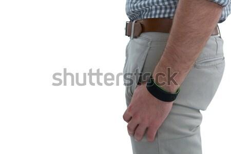 Człowiek fitness zespołu ekranu informacji Zdjęcia stock © wavebreak_media