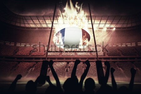 Misty football stadium under spotlights Stock photo © wavebreak_media