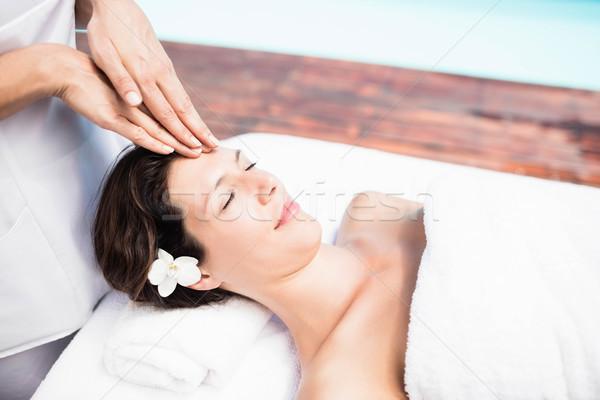 Vrouw hoofd massage masseur spa lichaam Stockfoto © wavebreak_media