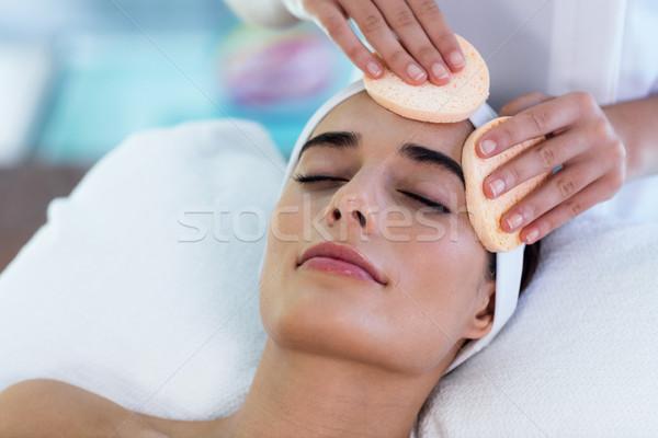 女性マッサージ師 掃除婦 顔 綿 女性 ホテル ストックフォト © wavebreak_media
