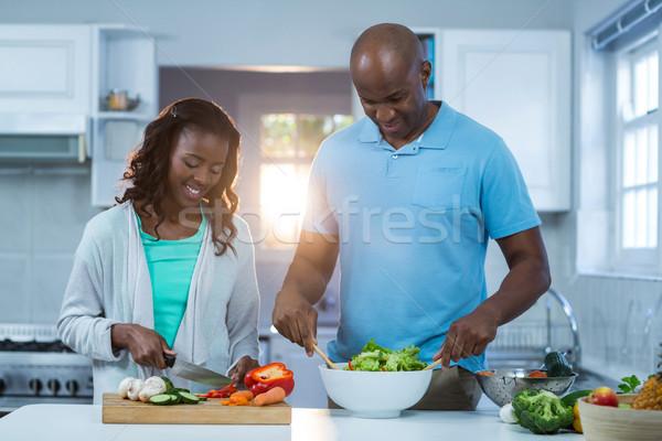 Couple preparing food Stock photo © wavebreak_media