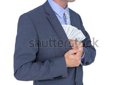 üzletember csekk karóra férfi technológia gyönyörű Stock fotó © wavebreak_media