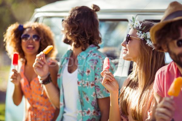グループ 友達 食べ 氷 キャンディー ストックフォト © wavebreak_media