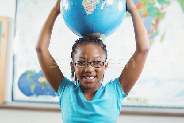 улыбаясь мира Мир карта девушки счастливым Сток-фото © wavebreak_media