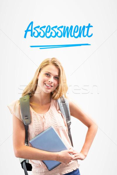Assessment against white background with vignette Stock photo © wavebreak_media