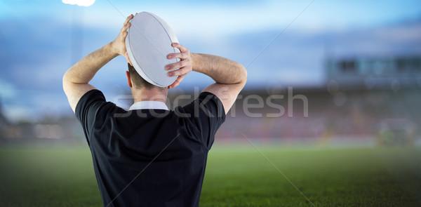 Obraz rugby gracz uruchomiony rugby ball Zdjęcia stock © wavebreak_media