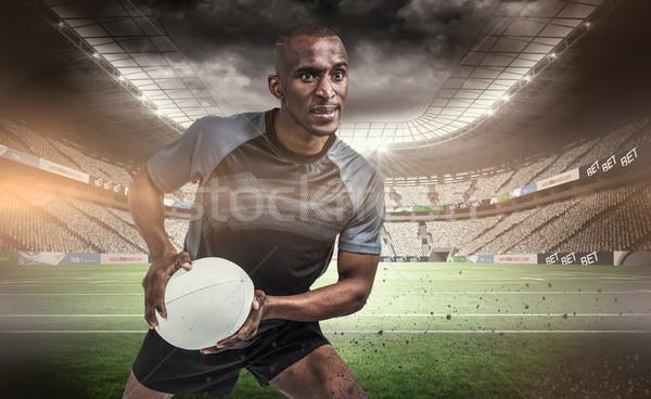 Immagine rugby giocatore posizione palla Foto d'archivio © wavebreak_media
