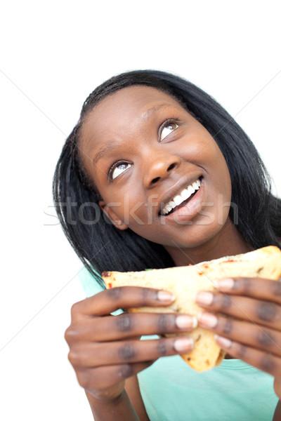 веселый еды сэндвич белый здоровья Сток-фото © wavebreak_media
