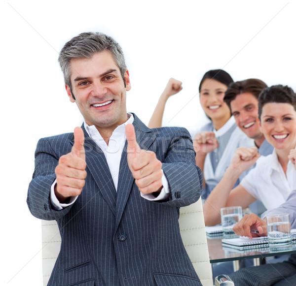 Kantoor man gelukkig achtergrond Stockfoto © wavebreak_media