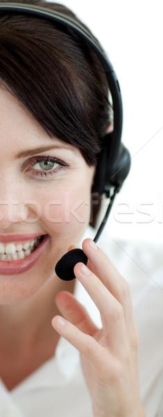 魅力的な 顧客サービス エージェント ヘッド 孤立した 白 ストックフォト © wavebreak_media
