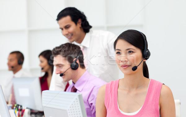 Menedzser alkalmazottak munka ügyfélszolgálat üzlet számítógép Stock fotó © wavebreak_media