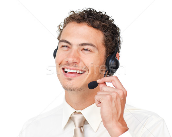 Delighted customer service agent with headset on Stock photo © wavebreak_media