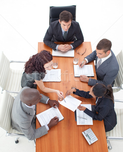 High Angle of business people working together Stock photo © wavebreak_media