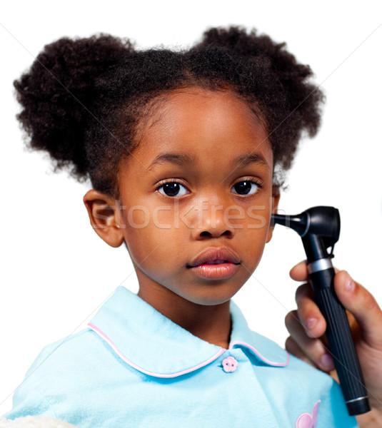 Petite fille médicaux isolé blanche enfant santé Photo stock © wavebreak_media