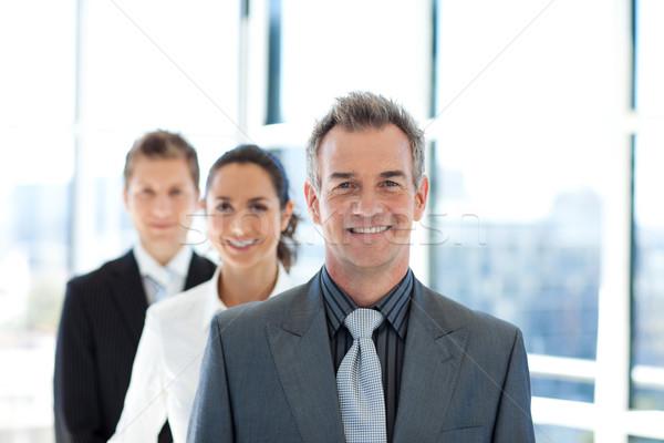 улыбаясь бизнесмен ведущий бизнес-команды старший бизнеса Сток-фото © wavebreak_media
