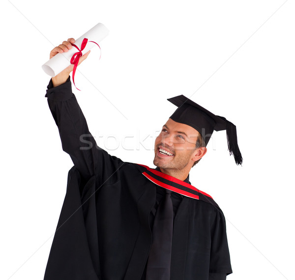 Menino graduação atraente feliz Foto stock © wavebreak_media