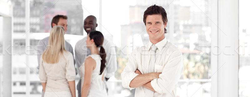 üzletemberek beszél együtt munka iroda nő Stock fotó © wavebreak_media