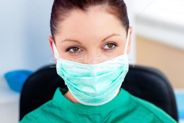 肖像 深刻 外科医 マスク 病院 女性 ストックフォト © wavebreak_media