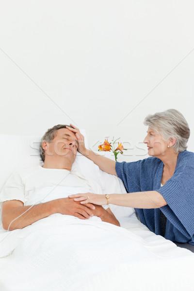 Olgun kadın bakım koca adam hastane Stok fotoğraf © wavebreak_media