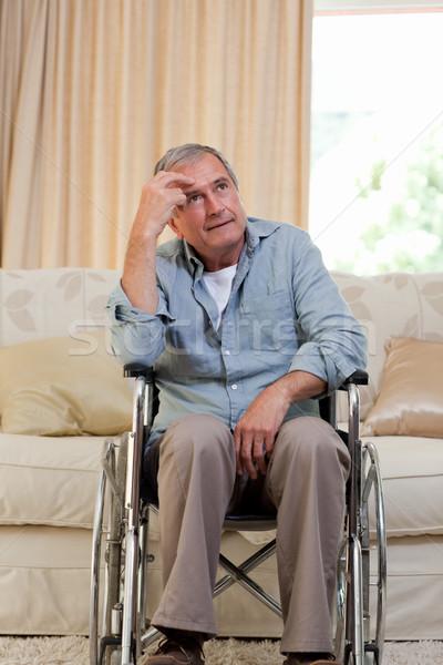Senior man in his wheelchair Stock photo © wavebreak_media
