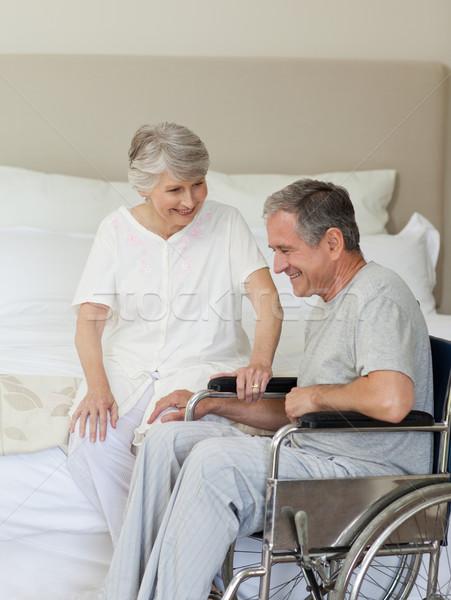 зрелый пару спальня медицинской здоровья женщины Сток-фото © wavebreak_media