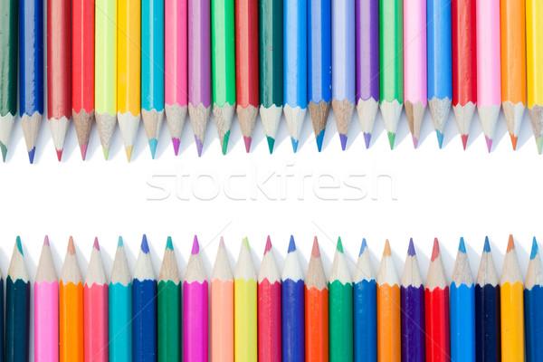Сток-фото: цвета · карандашей · белый · аннотация · пер · краской