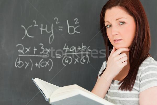 решить уравнение классе школы Сток-фото © wavebreak_media