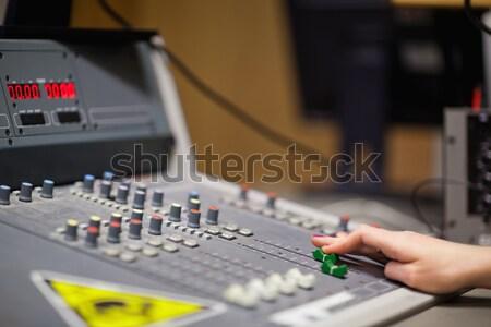 Mão soar estúdio música tecnologia concerto Foto stock © wavebreak_media