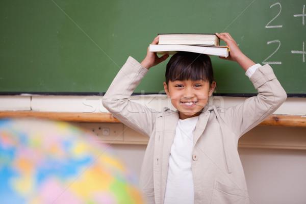 女学生 図書 頭 教室 手 ストックフォト © wavebreak_media