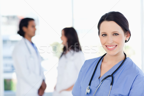 Genç tıbbi stajyer bakıyor kamera muhteşem Stok fotoğraf © wavebreak_media