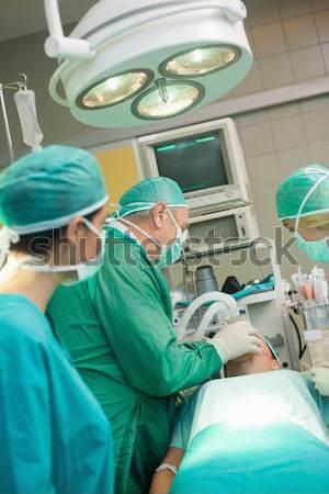 Hasta tıbbi yatak operasyon tiyatro kan Stok fotoğraf © wavebreak_media