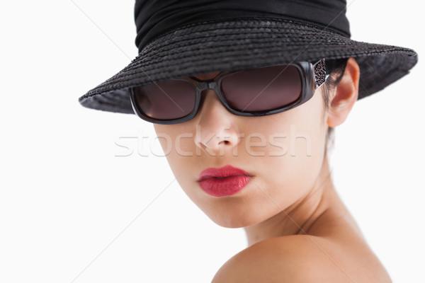 Mulher sol óculos seis branco Foto stock © wavebreak_media