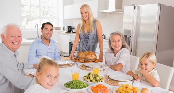 Feliz madre Turquía acción de gracias familia Foto stock © wavebreak_media