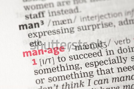学ぶ 定義 辞書 情報 コンセプト 知識 ストックフォト © wavebreak_media