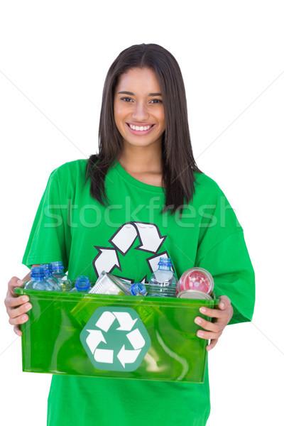 Enivromental activist holding box of recyclables Stock photo © wavebreak_media