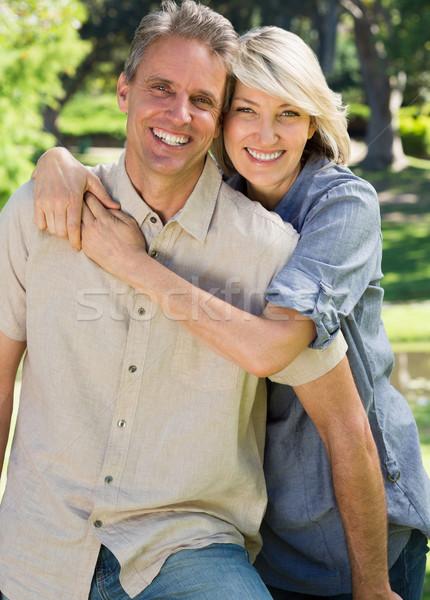 Loving couple spending time together in park Stock photo © wavebreak_media