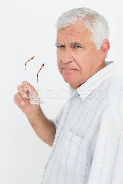портрет старший человека очки белый Сток-фото © wavebreak_media
