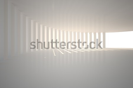 Curved white room with light Stock photo © wavebreak_media