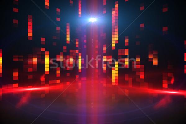 Digitaal gegenereerde disco oranje Rood Stockfoto © wavebreak_media