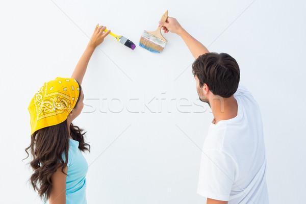 Feliz pintura juntos branco amor Foto stock © wavebreak_media