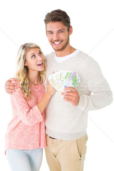 привлекательный пару наличных белый деньги Сток-фото © wavebreak_media