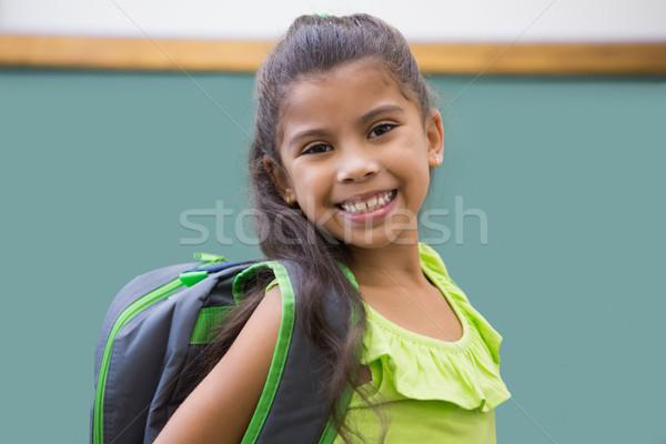 Aranyos mosolyog kamera osztályterem általános iskola iskola Stock fotó © wavebreak_media