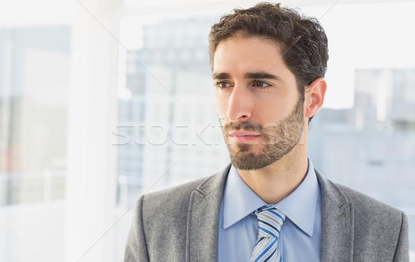 Empresário pensando trabalhar negócio escritório trabalhador Foto stock © wavebreak_media